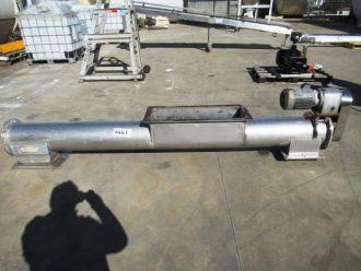 Tubular Screw Conveyor, 250mm Dia x 2780mm L, Colby