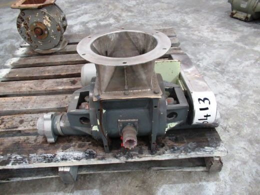 Blow Through Rotary Valve, IN: 190mm L x 150mm W, OUT: 75mm Dia, Nucon, 375C